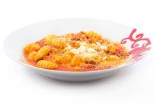 Potato Gnocchi With Tomato Sauce Royalty Free Stock Image