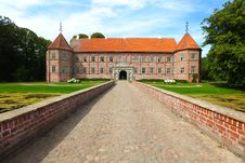 Castle With Entrance Path Royalty Free Stock Photo
