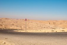 Free Road In The Desert Royalty Free Stock Photos - 21102798