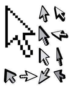 Free Set Of 3d Pixel Cursors Stock Image - 21102811