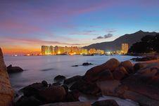 Free Sunset Along Seashore Stock Photos - 21103283