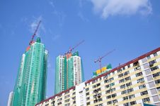 Free Construction Site In Hong Kong At Day Royalty Free Stock Images - 21103399