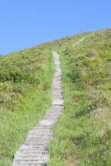 Hiking Path In Mountain Stock Photo