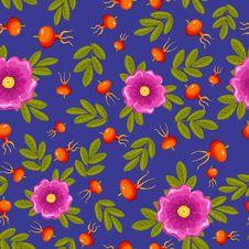 Free Dogrose Seamless Pattern. Stock Photo - 21104290