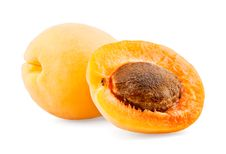 Apricot And Half With Bone Stock Photos