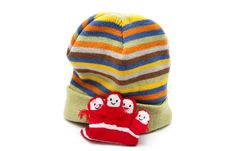 Children Cap With Gloves Royalty Free Stock Photos