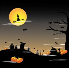 Free Halloween Full Moon Background Royalty Free Stock Photos - 21104828