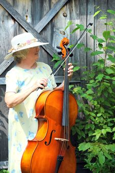 Free Female Cellist. Stock Photo - 21105360
