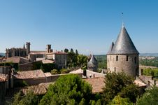 Free Medieval Tower, Carcassonne, France Royalty Free Stock Image - 21105446