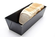 Free Bread Baking Tin With White Bread Royalty Free Stock Images - 21105449