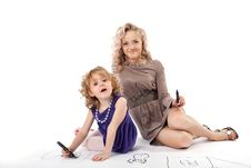 Free Happy Mother And Child Smile Isolated Stock Photo - 21105560