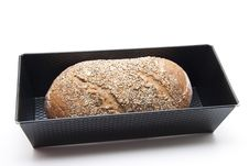 Free Baking Tin And More Grain Bread Royalty Free Stock Image - 21105586