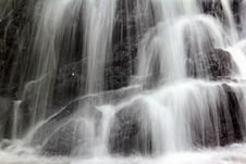 Misty Waterfall Close-up Royalty Free Stock Photography