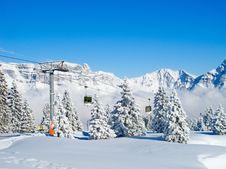 Free Skiing Slope Stock Image - 21106081