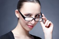 Woman Beauty Glasses Stock Photography