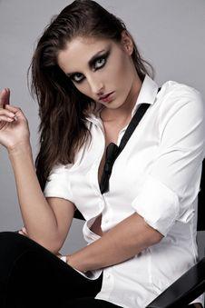 Free Portrait Of Business Woman Fashion Art Stock Photo - 21106390