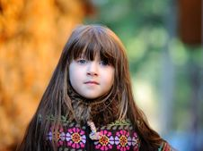 Free Portrait Of Adorable Little Girl With Loose Hair Royalty Free Stock Image - 21107026