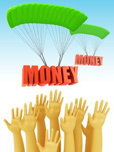 Free Money Prize Concept Stock Photography - 21107842