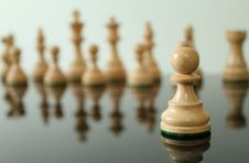 Free Pawn In Front Royalty Free Stock Photo - 21108215