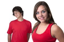 Free Teenage Boy And Teenage Girl Stock Photo - 21108630
