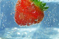 Free Splashing Strawberry Royalty Free Stock Image - 21109256