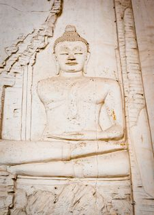 Free Buddha On The Wall Royalty Free Stock Photos - 21109498