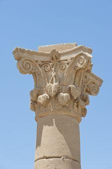 Top Of An Ancient Roman Column Stock Photos