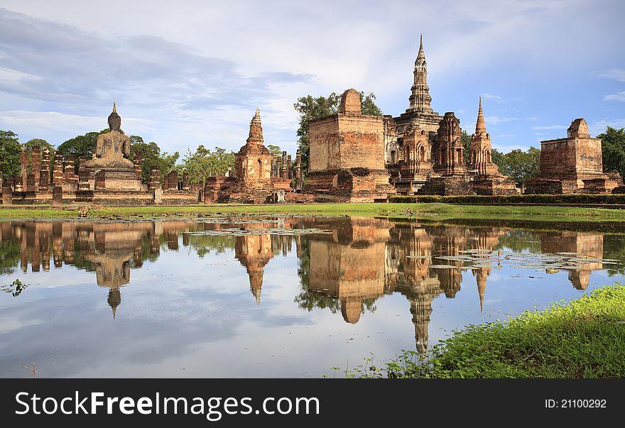 The reflex of pagoda