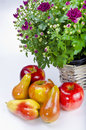 Free Fruit With Flowers Royalty Free Stock Photo - 21113725