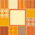 Free Frame In Patchwork Style Stock Photo - 21118000