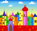 Free Colored Castle Royalty Free Stock Photos - 21119928