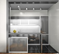 Free Interior Of Modern Kitchen Stock Photos - 21110003
