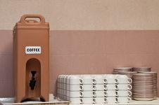 Coffee Dispenser Stock Photo