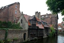 Free Medieval Centre Of Bruges Stock Photography - 21110402