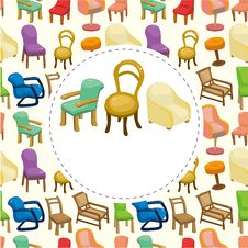 Free Cartoon Chair Furniture Card Stock Images - 21110624