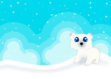 Free Cute Polar Bear Card Royalty Free Stock Photography - 21111357