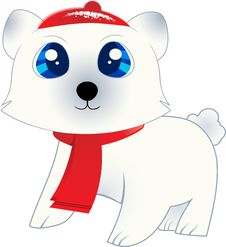 Free Isolated Polar Bear Stock Image - 21111361
