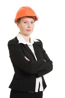 Free Businesswoman In A Helmet. Stock Photos - 21111683