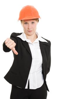 Free Businesswoman In A Helmet Stock Photo - 21111860