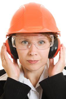 Free Businesswoman In A Helmet Stock Photos - 21111973