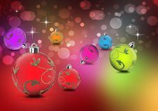 Free Christmas Baubles In Bright Colors Royalty Free Stock Image - 21112136