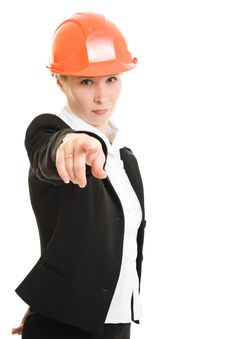 Free Businesswoman In A Helmet Royalty Free Stock Photos - 21112198