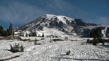 Free Close Landscape Snow Mountain Royalty Free Stock Photos - 21112378