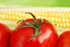 Free Macro Of Tomato And Corn Stock Photos - 21112473