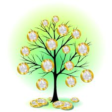 Free Euro Currency Tree Stock Image - 21112631