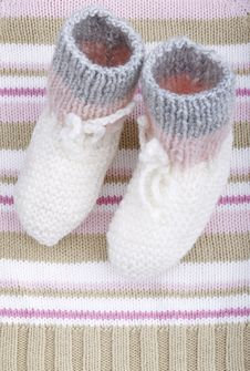 Free Woolen Baby Socks Royalty Free Stock Images - 21114029