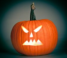 Free Halloween Scary Jack O Lantern Royalty Free Stock Images - 21114749