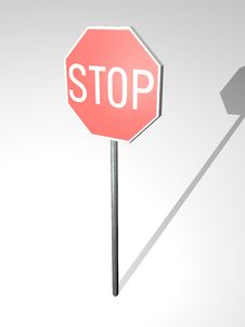 Free Stop Sign Royalty Free Stock Images - 21114859