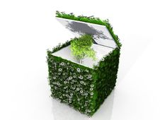 Free Cube With Grass And Tree Stock Photography - 21114862