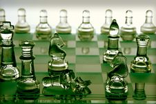Free Broken Chess Piece On A Chess Board Stock Images - 21115584